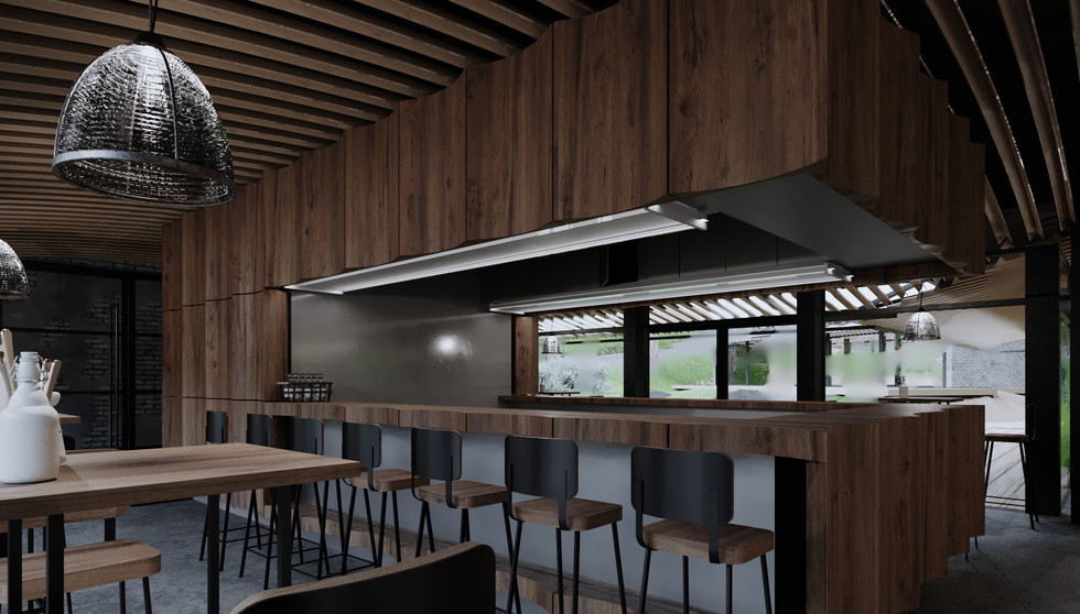 Woods cafe interior