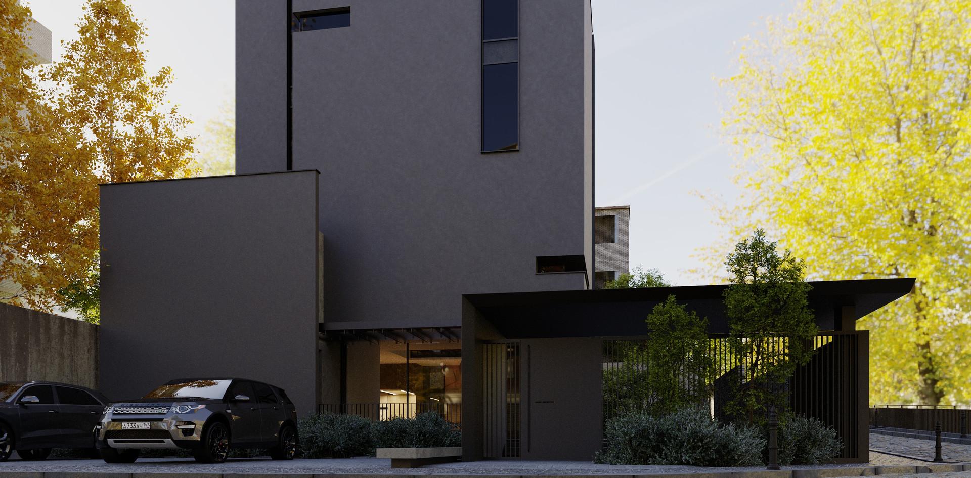 Tree house facade