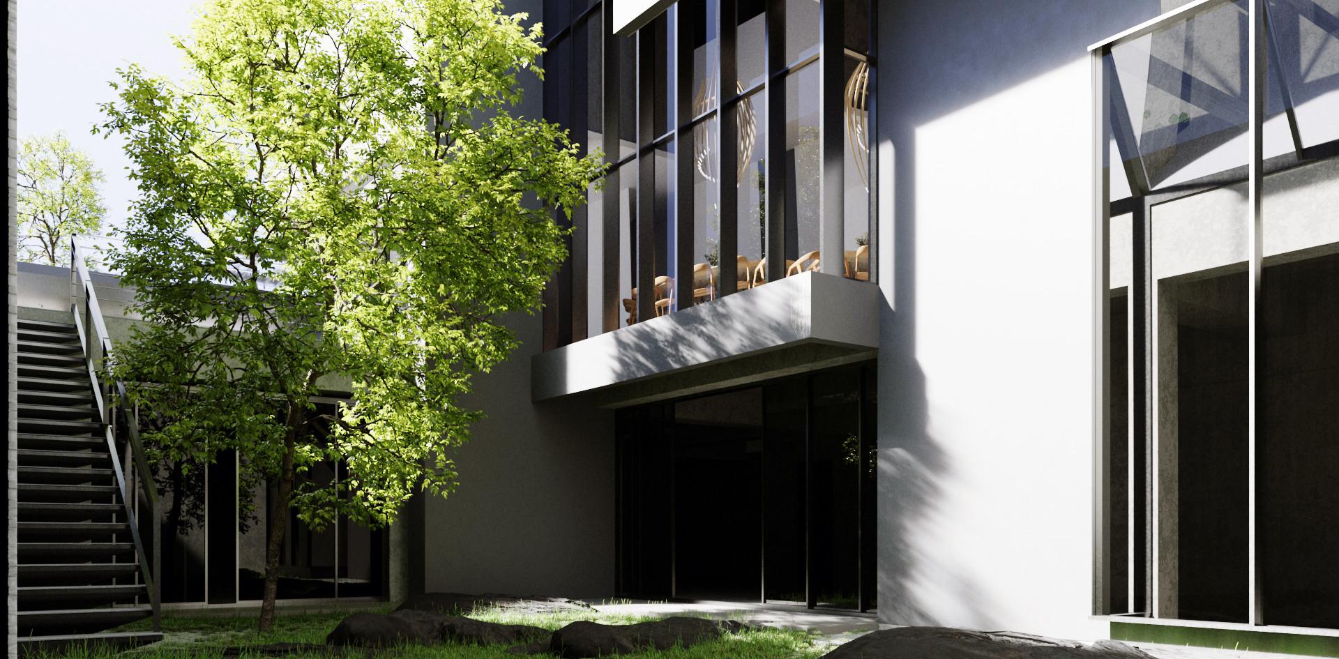Tree house courtyard
