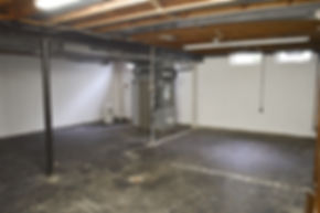 spotless unfinished or finishe basement cleanouts