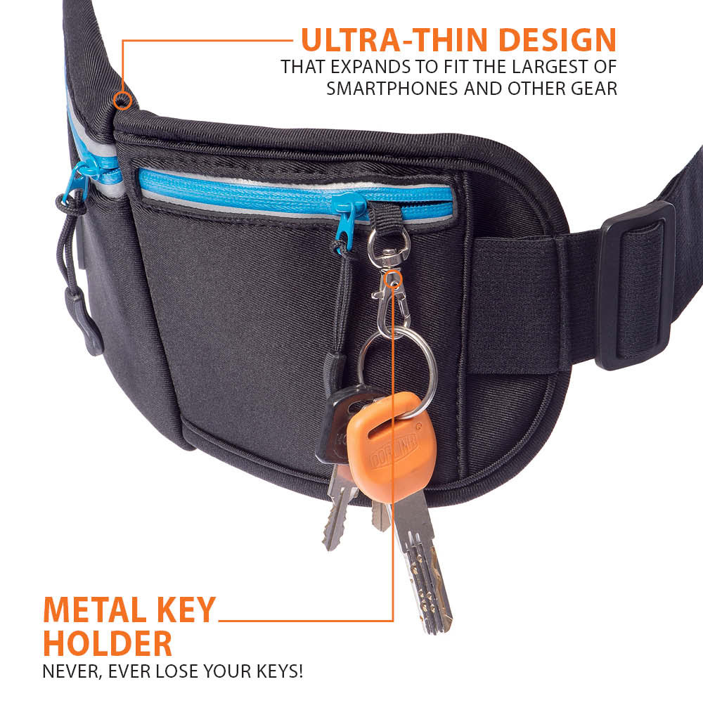 Running Belt Max is very thin and has a handy key holder