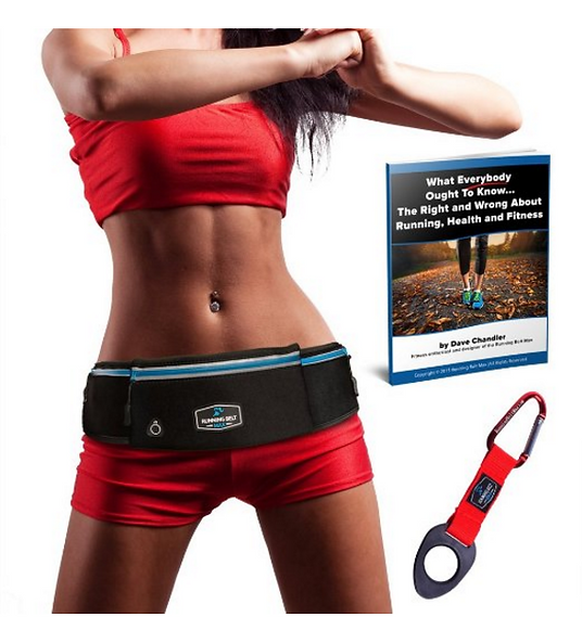 Fitness lady wearing the Running Belt Max