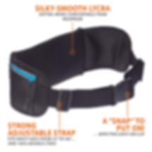 Running belt made from soft Lycra