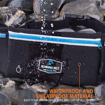 Running Belt Max is 99% waterproof