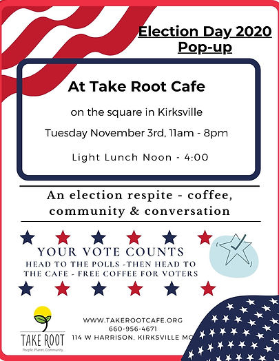 Quarter Page Flyer Election 2020 pop-up.