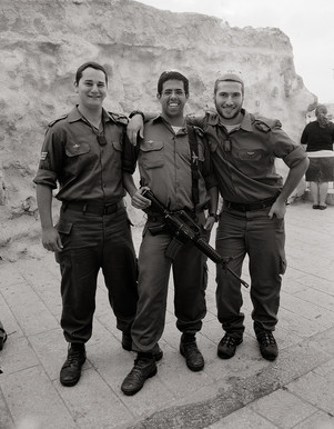 Soldier Boys at the Western Wall