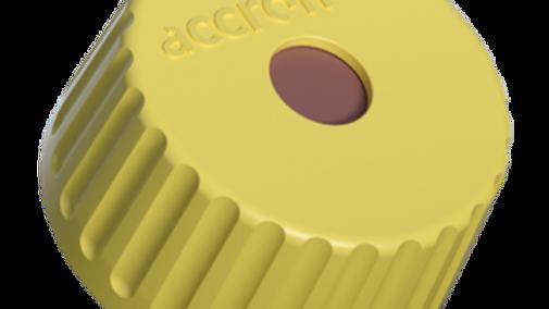 Accroma Screw cap yellow incl Septa PTFE 100pcs
