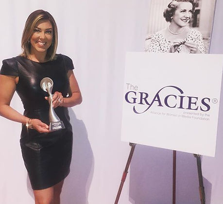 Received my Gracie Award today! So amazing to be amongst such great journalists! #TheGracies _allwom