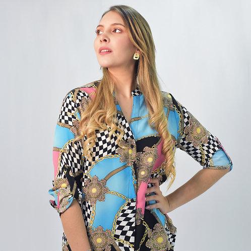 Blusa Estampada Versace