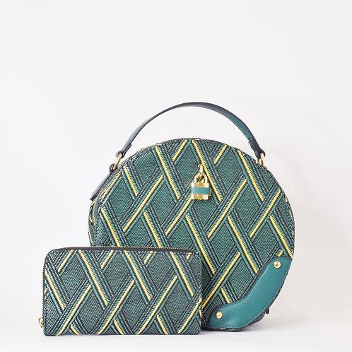 Bolso Verde de Rombos + billetera