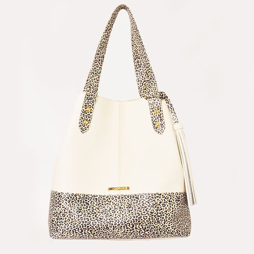 Bolso Leopardo Blanco