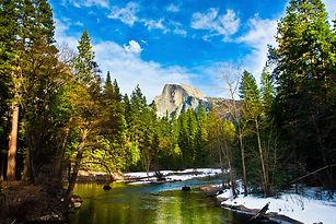 Yosemite National Park, California, USA, America, nature, trees, rivrs, mountains