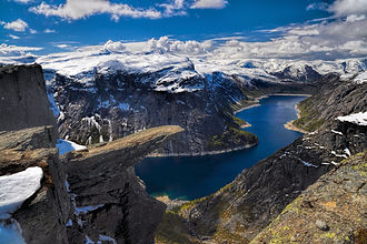 Trolltunga, Oda, Norway, Europe, montans, lake, views, cliff edge, travel