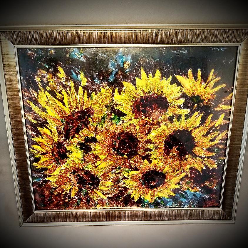 Sunflower Framed Art $30