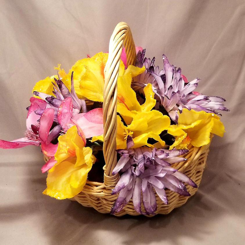 Silk Flower Basket Centerpiece - $25