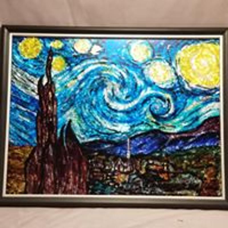 Starry Nights Framed Art - $25