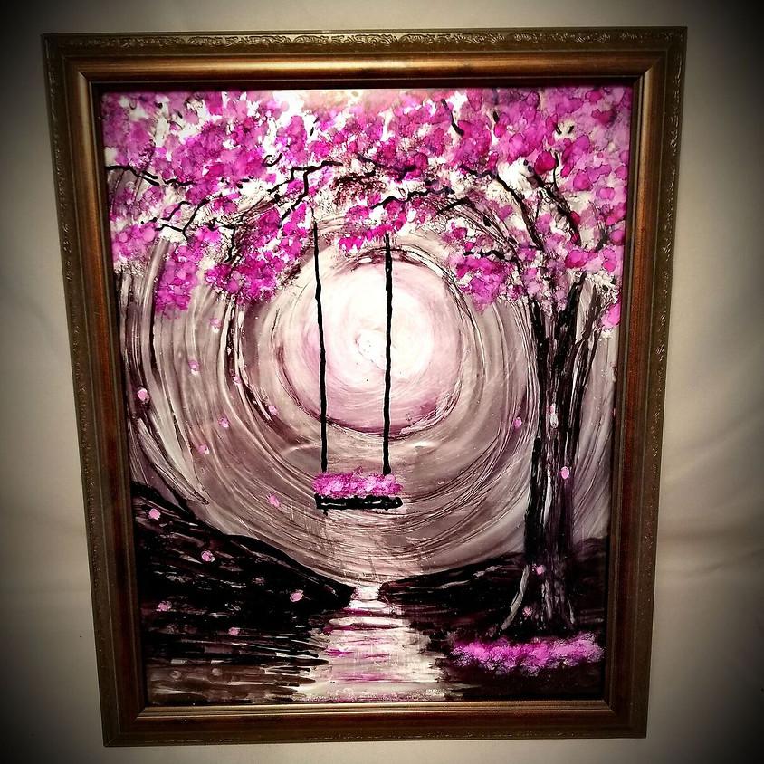 Spring Swing Framed Art - $30