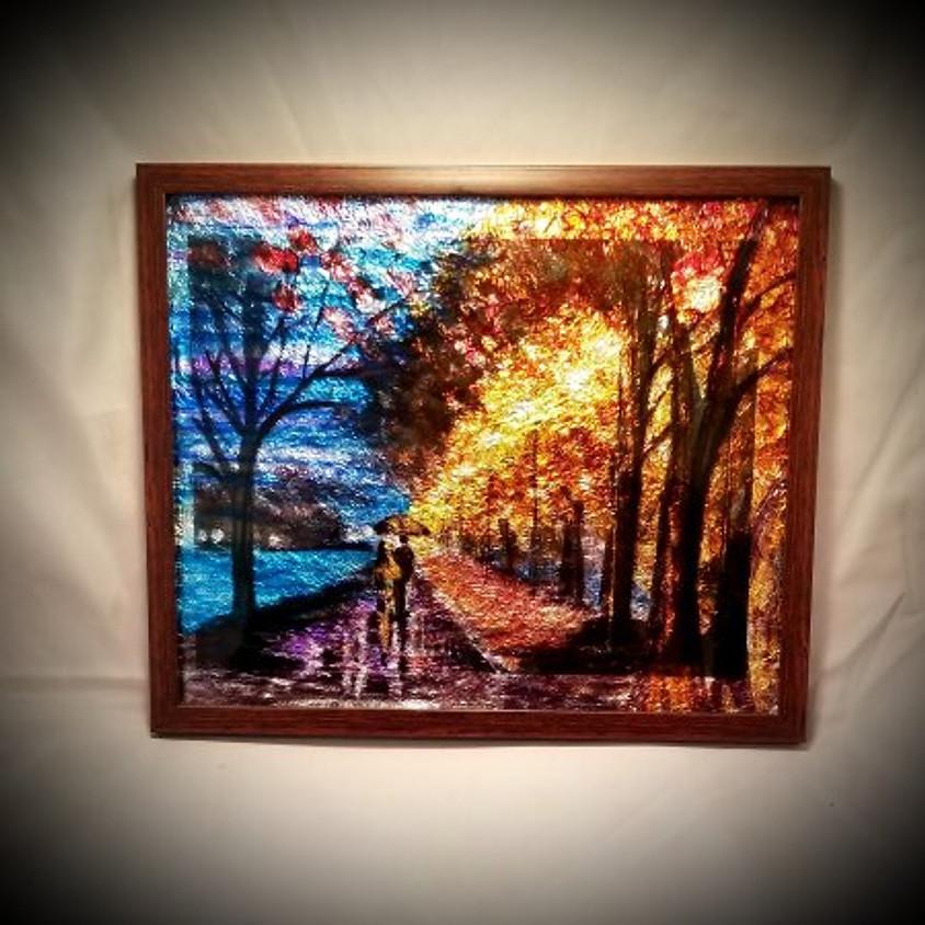 Walk in the Rain Framed Art $30