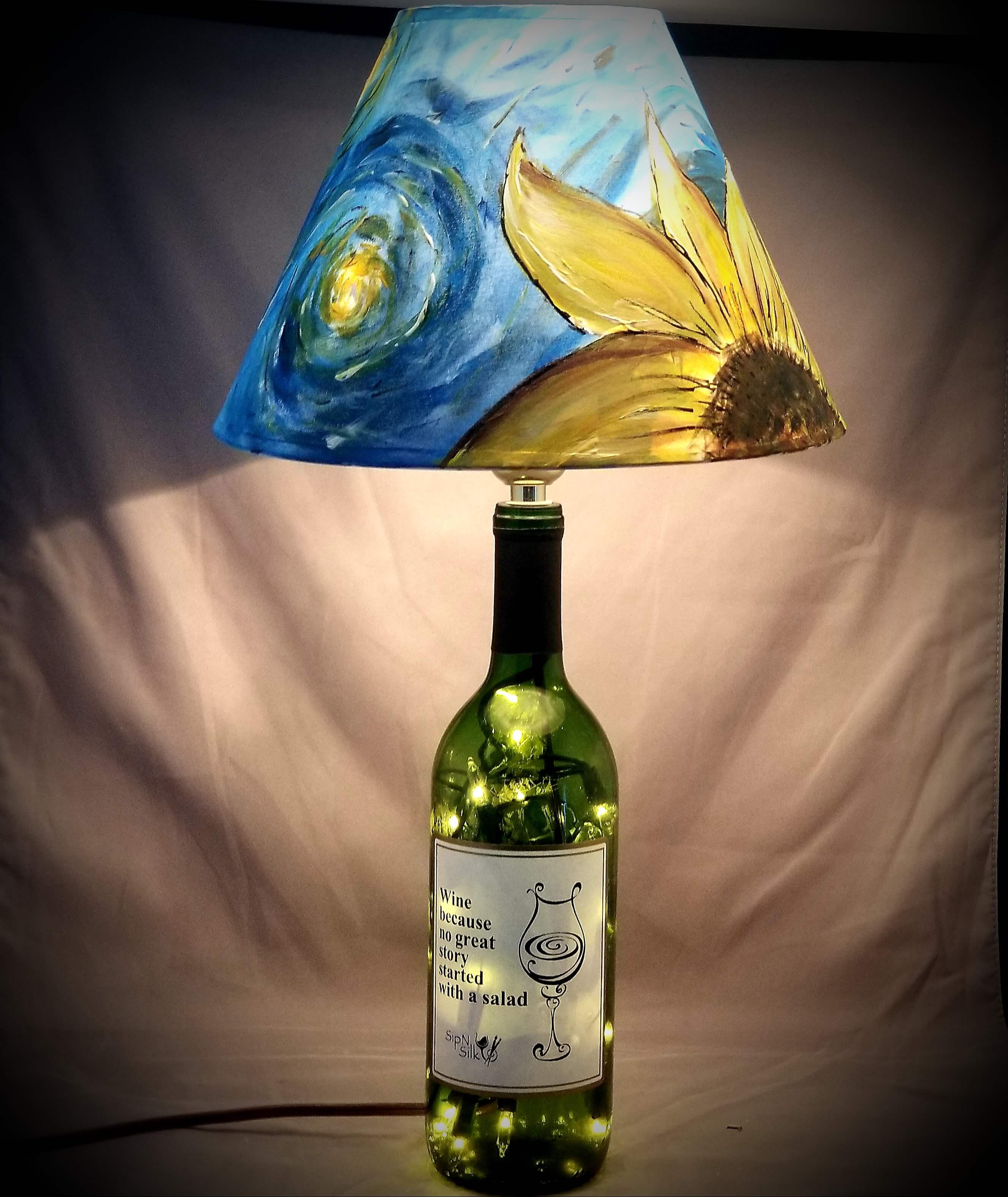 Starry Night Wine Bottle Lamp 40