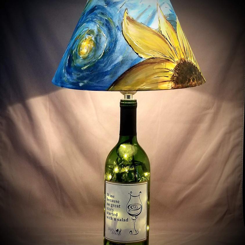 Starry Night Wine Bottle Lamp - $40