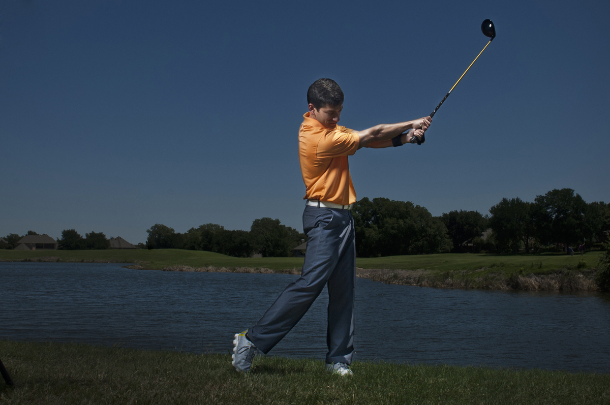 Golf Training Aid Swing Through