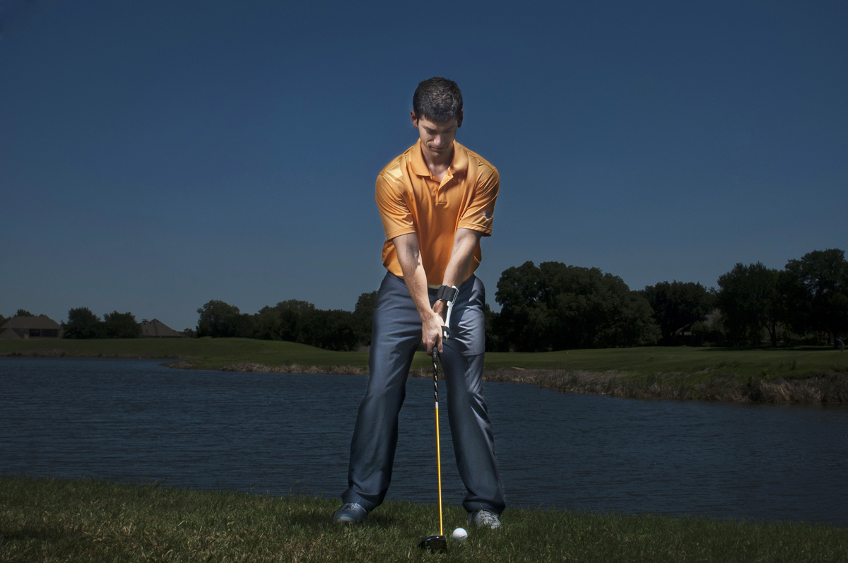 Golf Training Aid Swing Setup