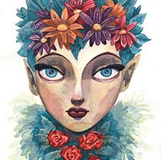 Spring Goddess Watercolor