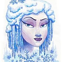 Winter Goddess Watercolor