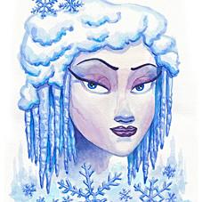 Winter Goddess Watercolor