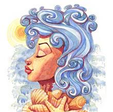 Summer Goddess Watercolor