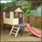 childs playhouse with slide
