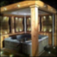Hot tub hut