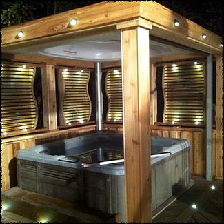 Hot tub hut