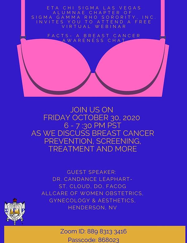 Purple Bra Breast Cancer Awareness Poste