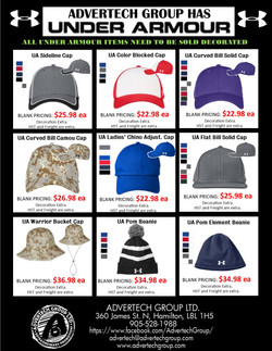Under Armour is HERE! These HATS go up a