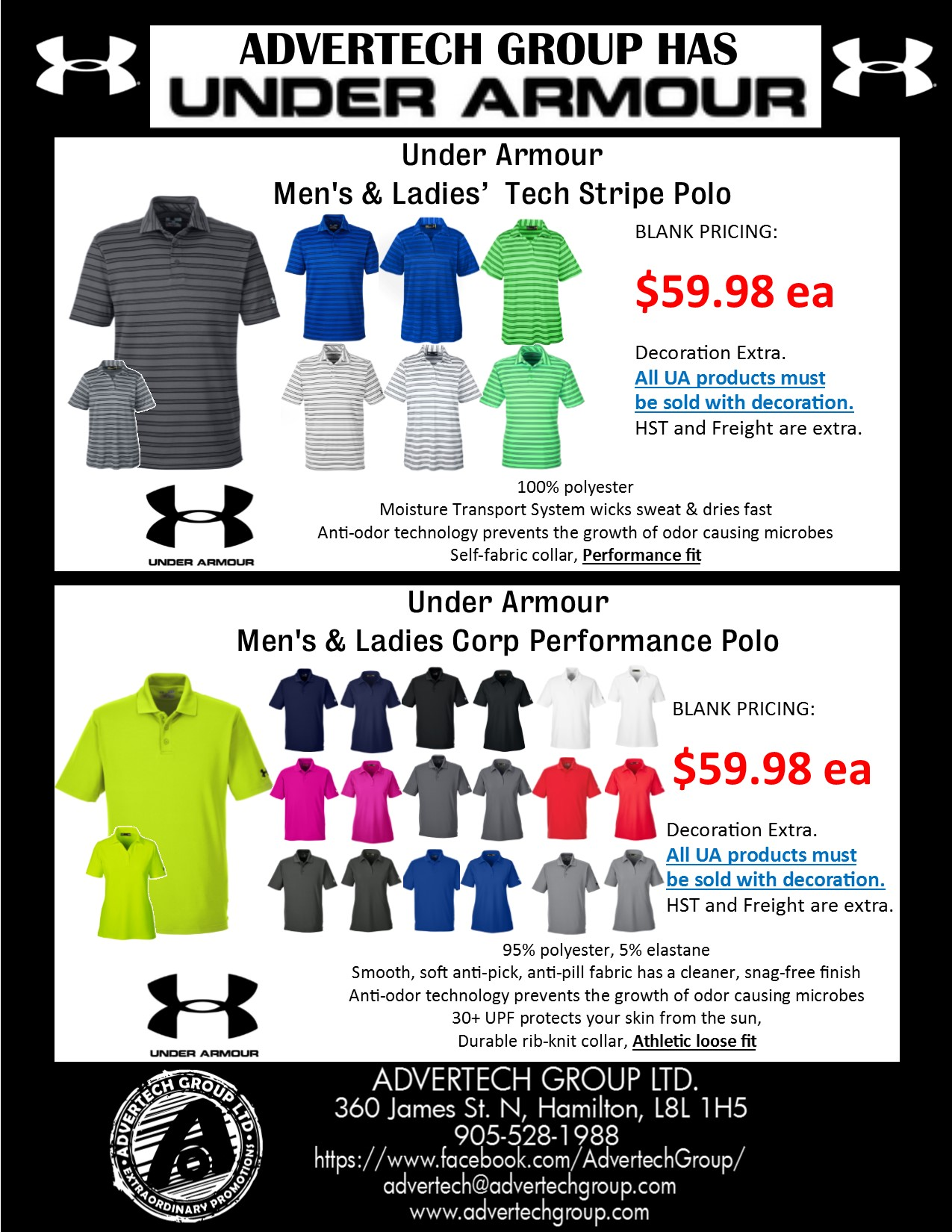 Under Armour is HERE! These POLOS will h