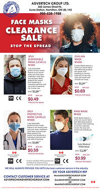 PPE Sale, Masks, Promotional Products, Safety, Hamilton Promotional Products