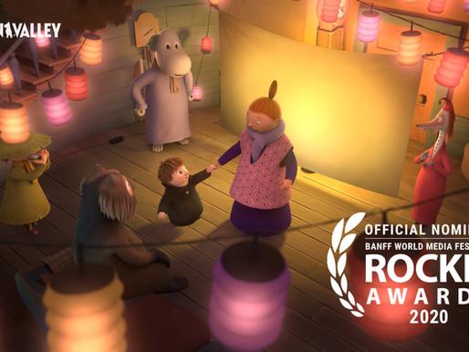 MOOMINVALLEY nominated at Banff Media's Rockie Awards