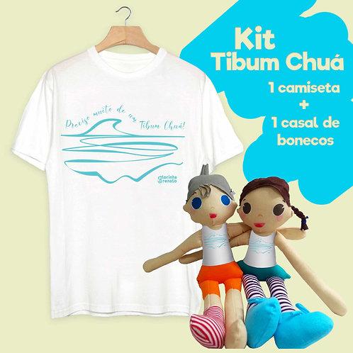 Kit Tibum Chuá: Camiseta+Bonecos de Pano
