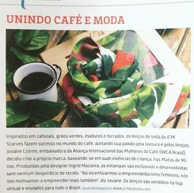 Matéria sobre a JCM Scarves na Revista Espresso