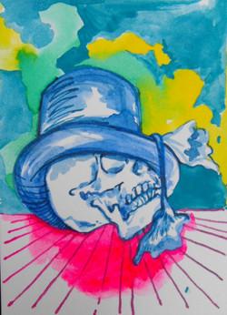 Lil' Skull art card