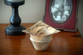 Three corner spalted maple bowl