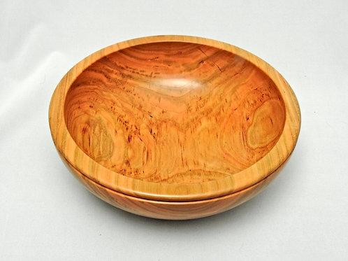 Cherry Wood Decorative Bowl with Beaded Edge