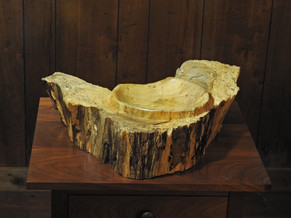 Very rustic spaltic maple bowl