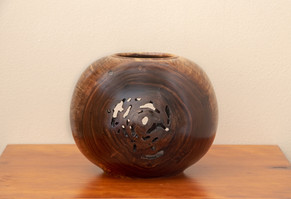 Walnut bowl with rotted core