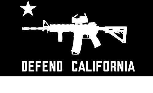 DEFEND CALIFORNIA CUT VINYL STICKER