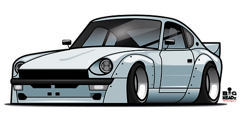 Datsun 260Z CAR-toon Sticker