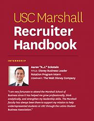 Aaron AJ A.J. Eckstein USC Marshall School of BusinessRecruiter Handbook.png