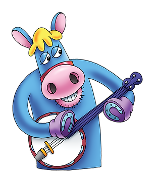 Henry Horse, playing the Banjo