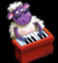 Barry Baa, bashing his piano